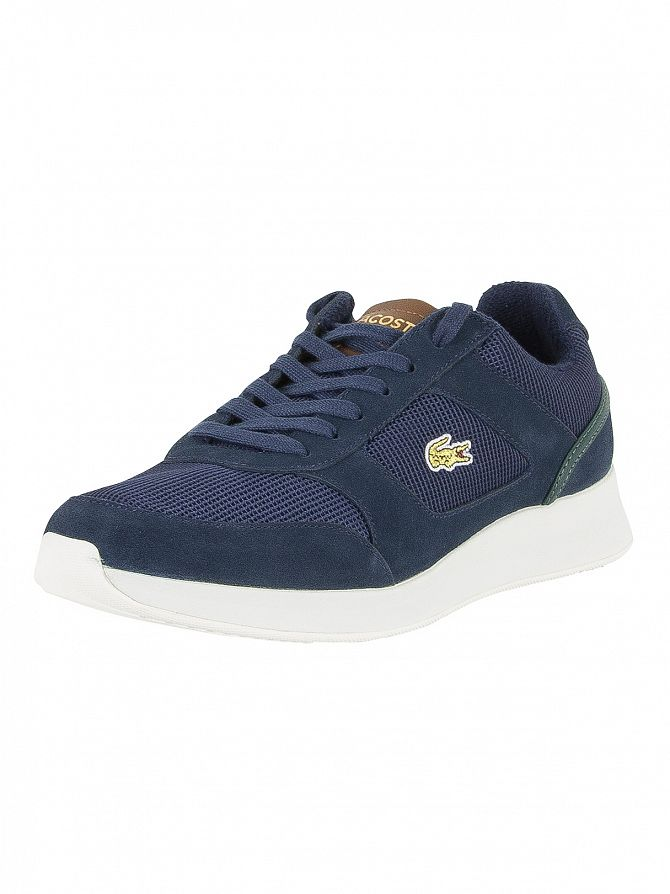 Lacoste Navy/Brown Joggeur 317 4 SPM Trainers
