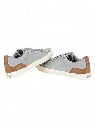 Lacoste Grey/Brown Lerond 317 2 Cam Trainers