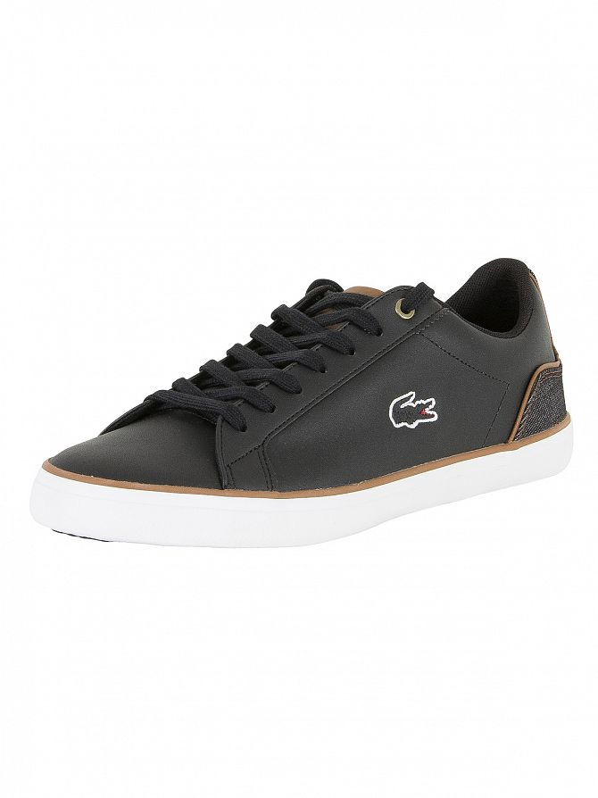 Lacoste Black/Brown Lerond 317 3 Cam Trainers