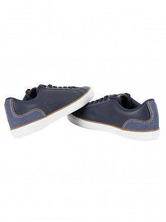 Lacoste Navy Brown Lerond 317 3 Cam Trainers