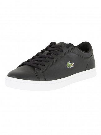 Lacoste Black Straightset BL 1 Cam Trainers