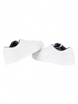 Lacoste White Straightset BL 2 Cam Trainers