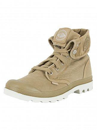 Palladium Dark Khaki/Silver Birch Pallabrouse Baggy Boots