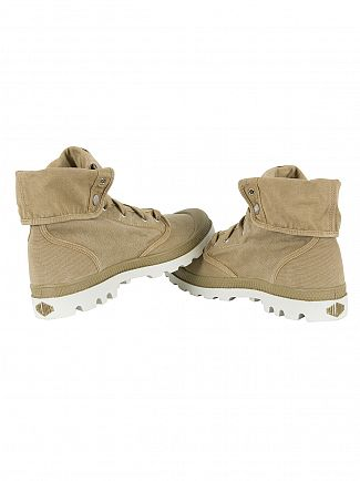 Palladium Dark Khaki/Silver Birch Pallabrouse Baggy Boots