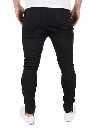 Religion Jet Black Blade Slim Fit Jeans