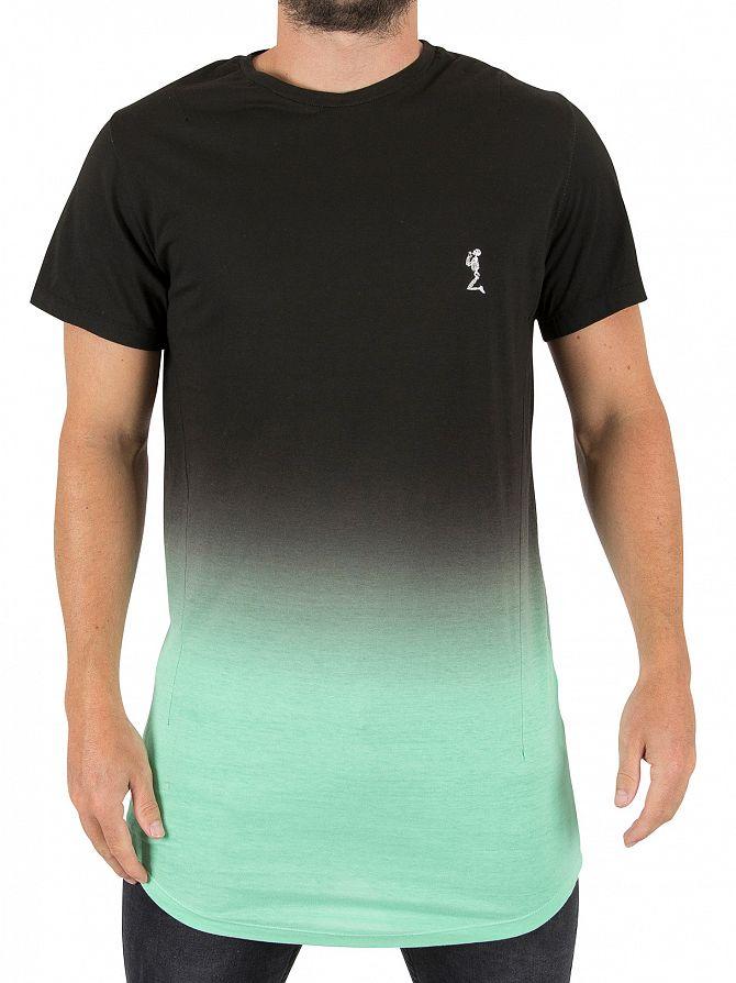 Religion Black/Mint Block Fade Long Logo T-Shirt