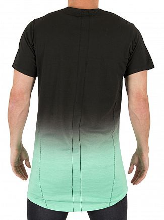 Religion Black/Mint Block Fade Long Logo T-Shirt