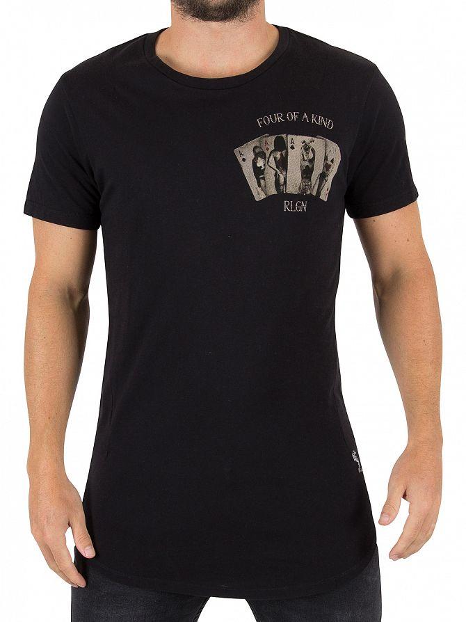 Religion Black Four Of A Kind T-Shirt