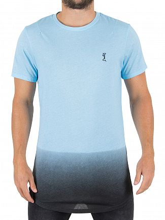 Religion Baby Blue/Black Gradient Logo T-Shirt