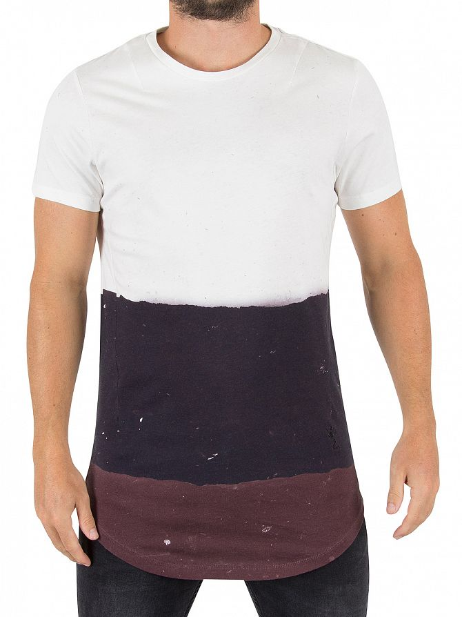 Religion White/Black/Merlot Slash T-Shirt