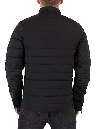 Scotch & Soda Black Light Quilted Jacket