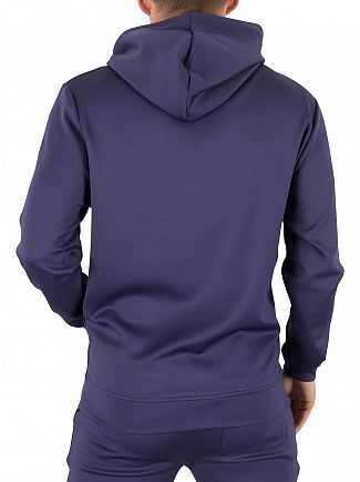 Sik Silk Navy Poly Tricot Logo Hoodie