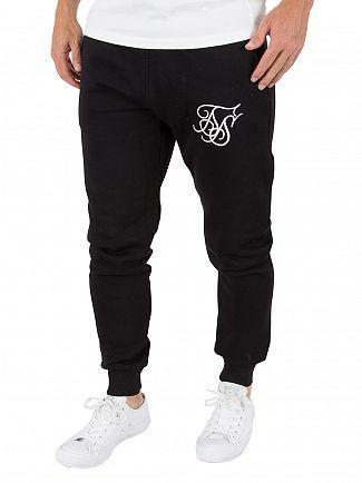 Sik Silk Black Standard Logo Joggers