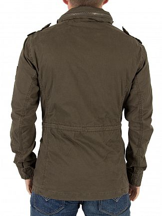 Superdry Forest Khaki Classic Rookie Military Logo Jacket