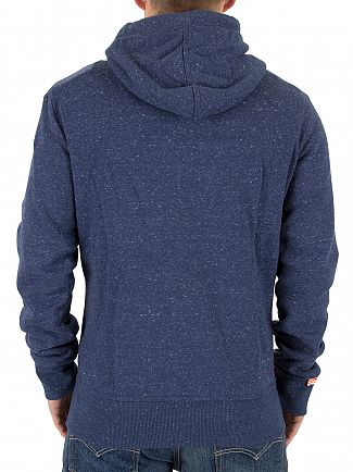 Superdry Nautical Navy Grit Orange Label Zip Logo Hoodie