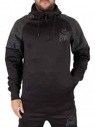 Kings Will Dream Black Carbony Poly Half Zip Logo Hoodie
