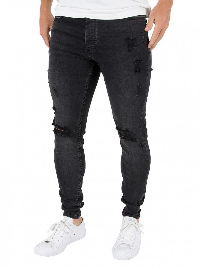 Kings Will Dream Denim Black Rumer Hipster Ripped Jeans