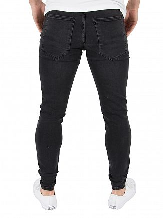 Kings Will Dream Denim Black Rumer Hipster Ripped Jeans
