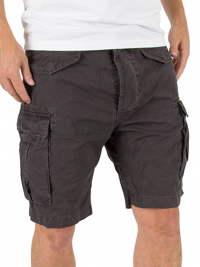 Superdry Washed Black Core Lite Ripstop Cargo Shorts