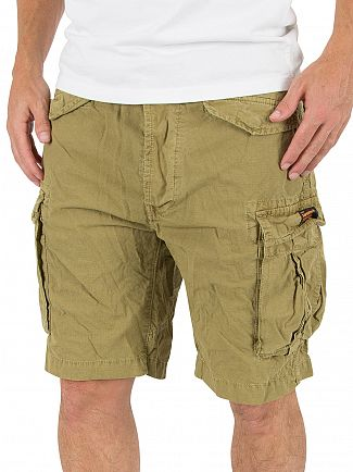 Superdry Squadron Green Core Lite Ripstop Cargo Shorts