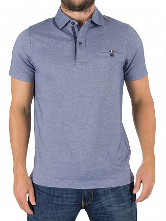 Tommy Hilfiger Light Indigo Ronan Twill Pocket Poloshirt
