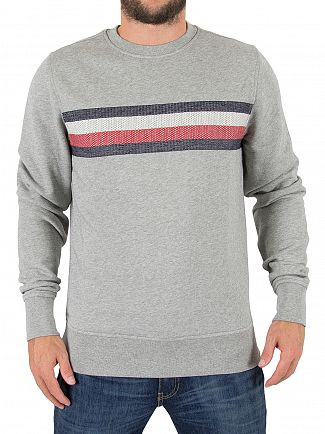 Tommy Hilfiger Cloud Heather Lake EMB Sweatshirt