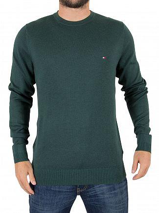 Tommy Hilfiger Ponderosa Pine Plaited Silk Logo Knit