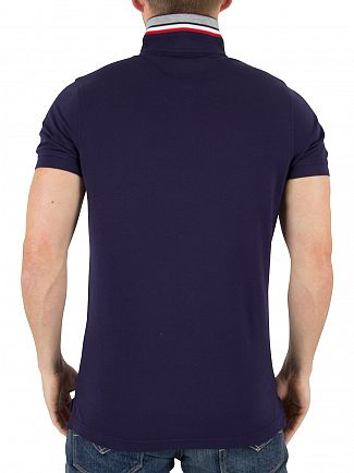 Tommy Hilfiger Maritime Blue Luxury Slim Fit Logo Poloshirt