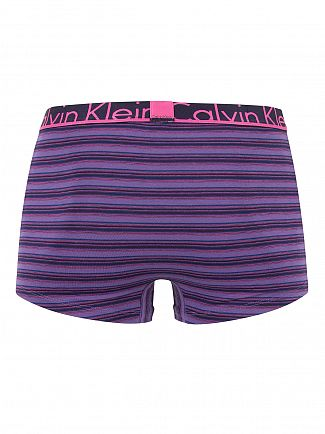 Calvin Klein Purple Halo ID Barn Stripe Logo Trunks