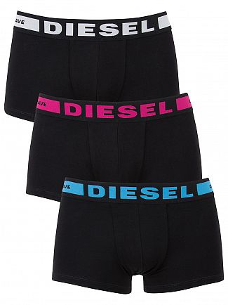 Diesel Black/Multi 3 Pack Seasonal Logo Trunks
