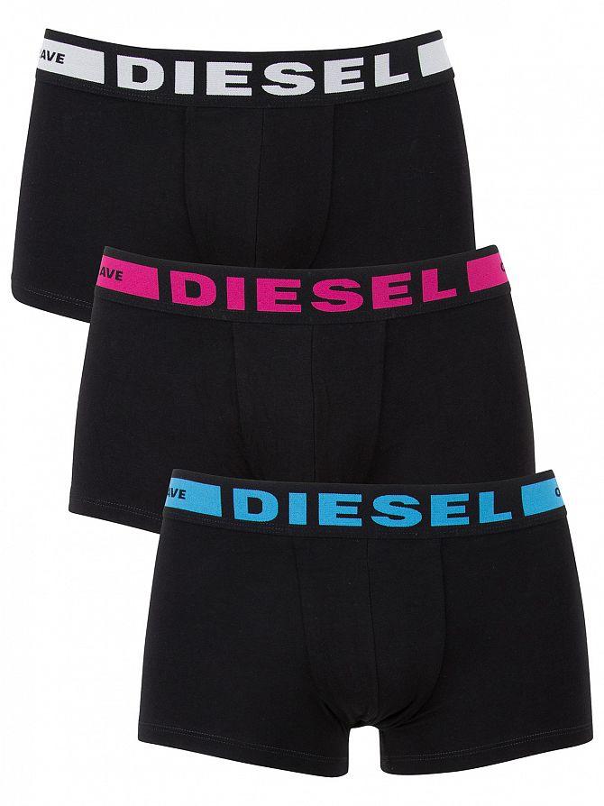 Diesel Black/Multi 3 Pack Seasonal Logo Trunks