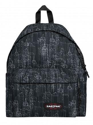 Eastpak Black Blocks Padded Pak'R Logo Backpack