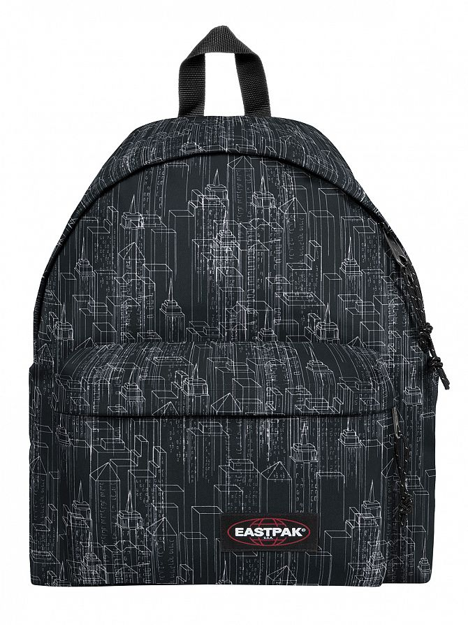 Eastpak Black Blocks Padded Pak'R Logo Backpack
