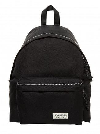 Eastpak Black Stitched Padded Pak'R Logo Backpack