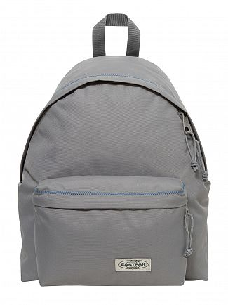 Eastpak Grey Stitched Padded Pak'R Logo Backpack