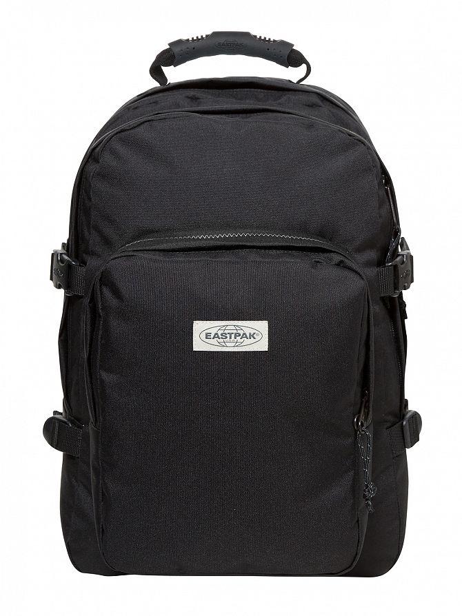 Eastpak Black Stitched Provider Logo Backpack