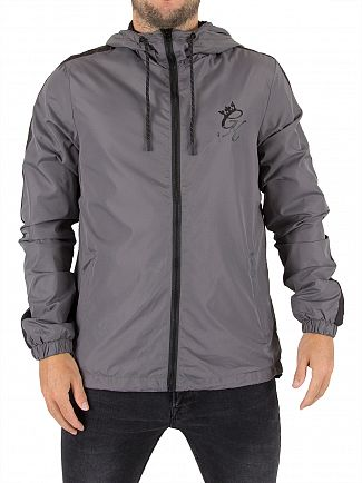 Gym King Steel Grey Windrunner Logo Jacket