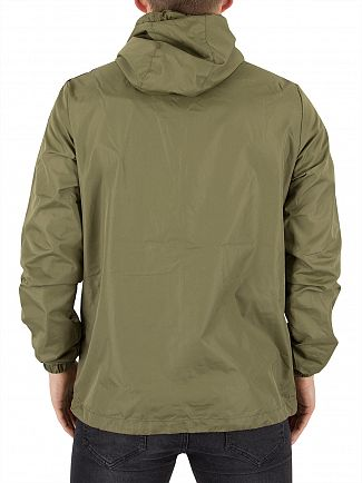 Gym King Burnt Olive Windrunner Logo Jacket