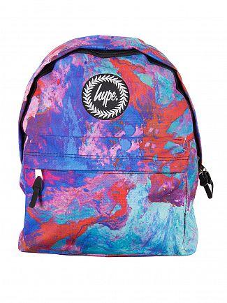 Hype Blue Elegance Logo Backpack