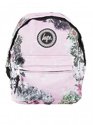 Hype Pink Floral Dream Logo Backpack