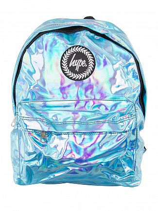 Hype Aqua Holographic Logo Backpack