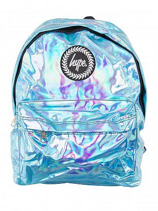 Hype Aqua Holographic Logo Backpack