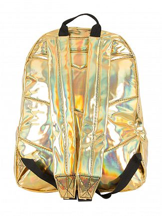 Hype Gold Holographic Logo Backpack