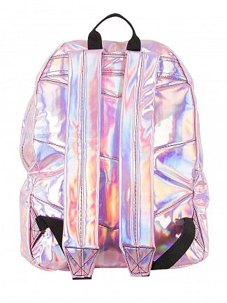 Hype Pink Holographic Logo Backpack