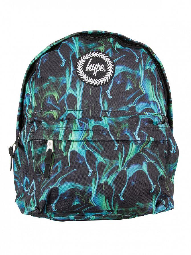Hype Green Marble Run Logo Backpack