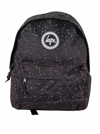 Hype Black Marble Speckle Logo Backpack