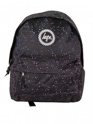 Hype Black Marble Speckle Logo Backpack
