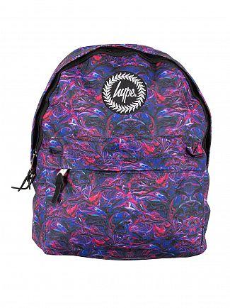 Hype Blue Paint Swirls V2 Logo Backpack