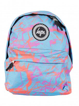 Hype Light Blue Pastel Marble Logo Backpack - Exclusive to Stand-Out