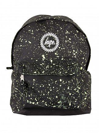 Hype Black/Lemon Speckle Logo Backpack